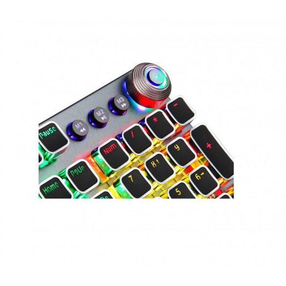 Tastiera gamer professionale programmabile AULA F2088: tasti meccanici, interruttore marrone 108 tasti, illuminazione LED RGB, connessione cablata