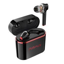 BlitzWolf® AirAux AA-UM5 - Cuffie con doppio driver dinamico. Touch Control, IPX5 - Nero-Rosso