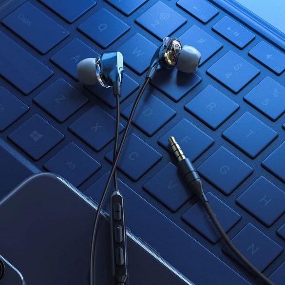 BlitzWolf Airaux AA-HE2 - auricolari cablati con doppio driver dinamico, 3.5 Jack, bassi profondi