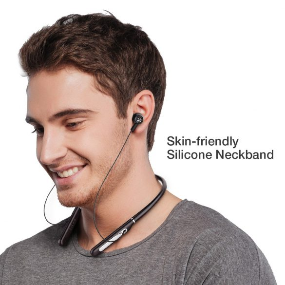 Auricolare da collo BlitzWolf® BW-ANC2 con riduzione attiva del rumore, appeso al collo, lungo tempo di lavoro, bluetooth V5.0
