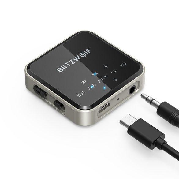 Adattatore audio bluetooth BlitzWolf® BW-BL3 -CSR Superior Chip, tecnologia ANC, lungo tempo di servizio, luce LED