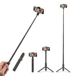 Selfie stick, tripod + lunghezza extra - BlitzWolf® BW-BS10 Plus lungo 1300 mm, con supporto estraibile, gambe nascoste, telecomando rimovibile