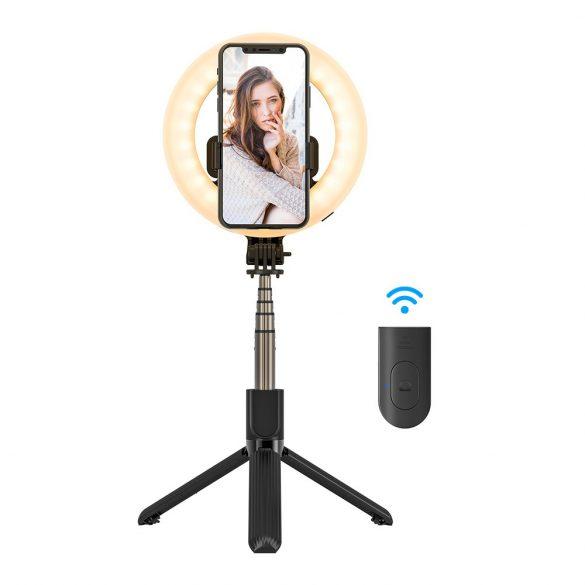 BlitzWolf® BW-BS8 Pro - Selfie Stick con luce di riempimento, treppiede, anello luminoso da 5 pollici