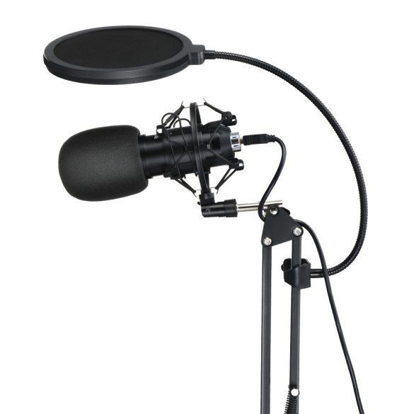 BlitzWolf BW-CM2 - Microfono a condensatore USB + filtro anti-pop + braccio porta microfono