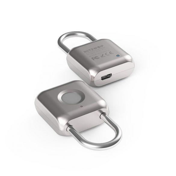 Lucchetto intelligente BlitzWolf® BW-FL1 con lettore di impronte digitali: impermeabile, antipolvere, 1 anno di funzionamento