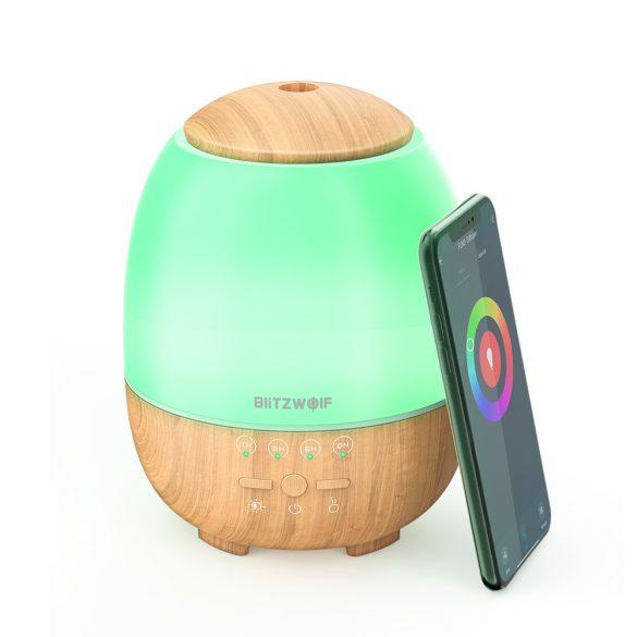 BlitzWolf®BW-FUN3 - Diffusore di aromi - Smart  Controllo APP, luce colorata, controllo vocale