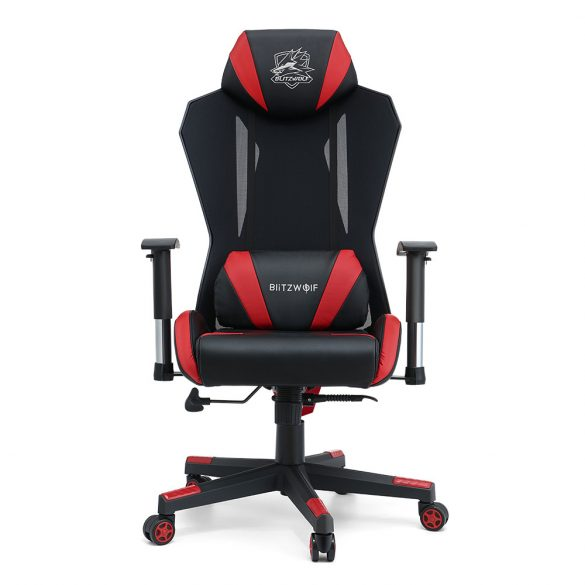 Sedia da gioco BlitzWolf® BW-GC6 con rete ad alta densità, reclinabile a 150 °, bracciolo regolabile 2D, supporto cuscino, regge 250 kg, cuscino e schienale allargati