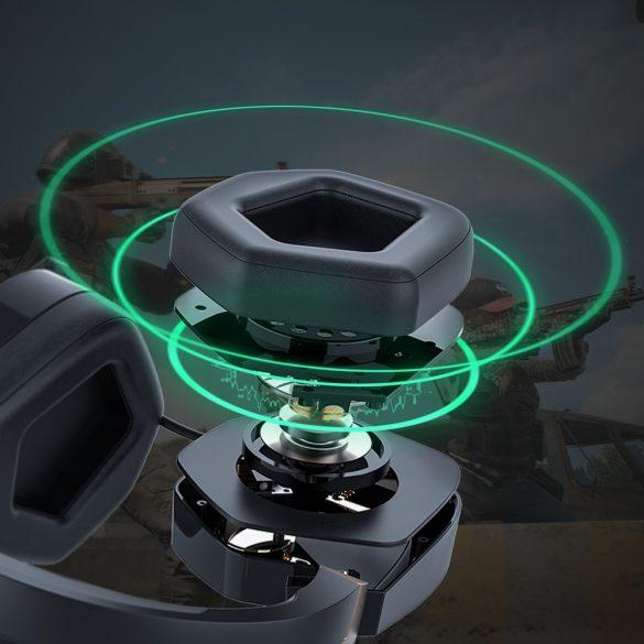 7.1 Cuffie Surround Gamer - BlitzWolf BW-GH2; LED RGB, riduzione del rumore, design ergonomico