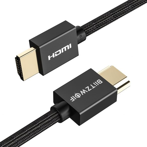 BlitzWolf® BW-HDC1- HDMI cable. 4K, Gold/plated connector, braided wire