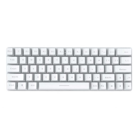 Tastiera gamer BlitzWolf BW-KB1 - Tasti meccanici, illuminazione a LED RGB, cablata e wireless, IPX4 - bianca