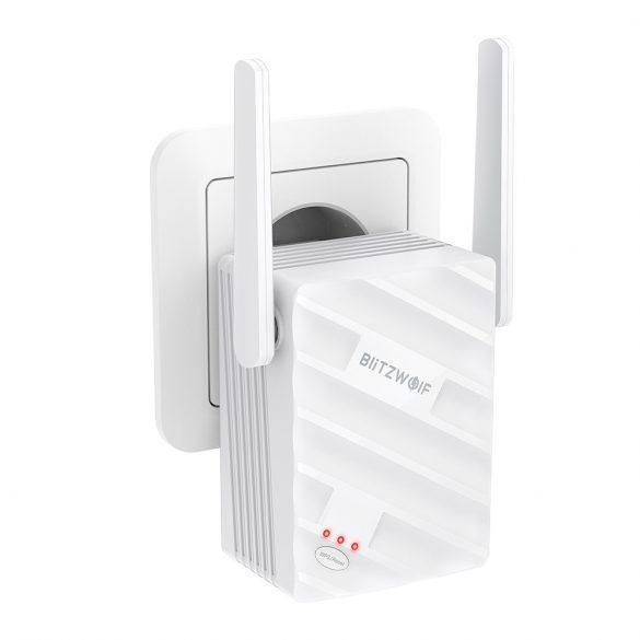 BlitzWolf®BW-NET3 - Ripetitore WiFi Dual Band 2.4G + 5G; Portata: 1200 m; 2x3,5dBi antenna, 1167 Mbps