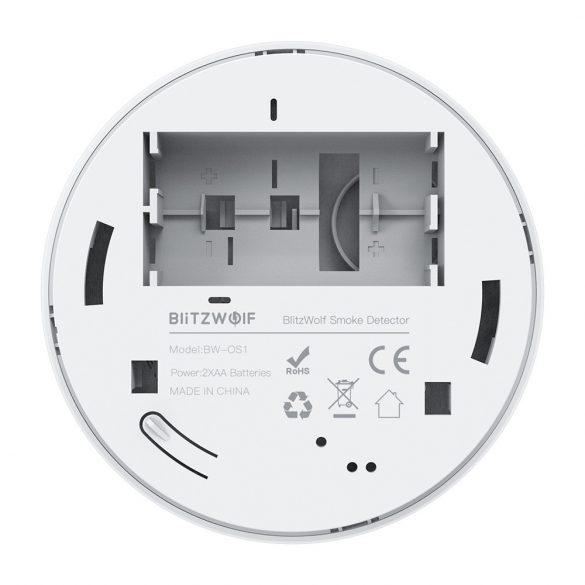 Blitzwolf® BW-OS1 Rilevatore di fumo autonomo: durata della batteria 3 anni, allarme ≥85dB