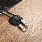 BlitzWolf® BW-PM1 Kábel rendszerező - Öntapadós, asztalra helyezhető - fekete