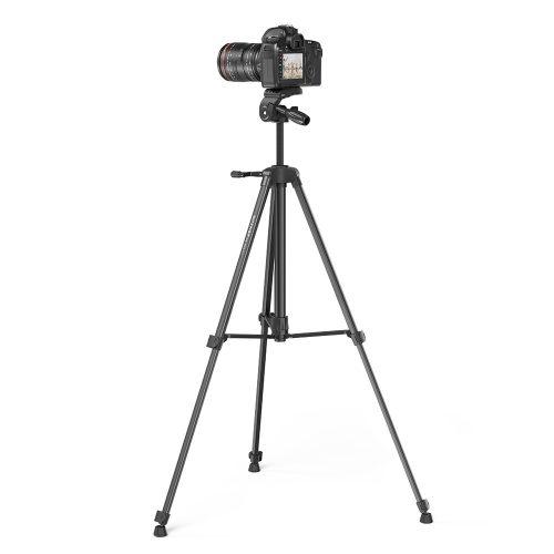 BlitzWolf® BW-STB1 - Treppiede per fotocamere e telefoni - 160 cm, peso leggero, telecomando