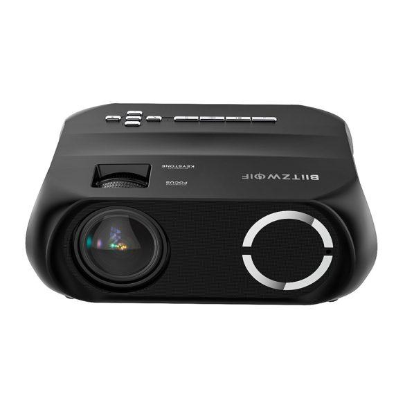 BlitzWolf® BW-VP11 - 720P, 6000 Lux - Proiettore home cinema con supporto wireless + USB con altoparlante integrato