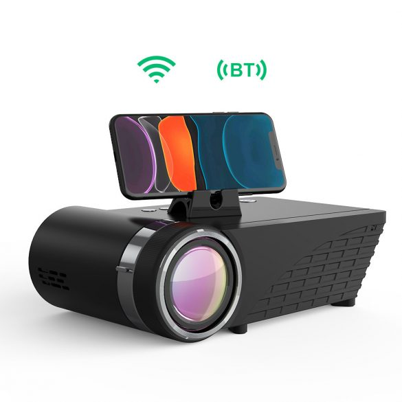 Proiettore Home Cinema - BlitzWolf® BW-VP8 con mirroring dello schermo del telefono, connessione wireless, risoluzione 720P, 5500 lumen, porte multiple e audio Dolby