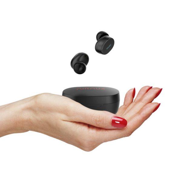 BlitzWolf® AIRAUX AA-UM4 Cuffie stereo Hi-Fi bluetooth 5.0 True Wireless con auricolare con custodia di ricarica - Nero