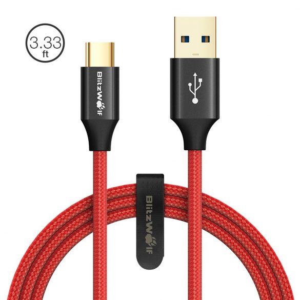 1.8 metri, USB-C, USB 3.0 BlitzWolf® AmpCore Turbo BW-TC10 3A intrecciato resistente