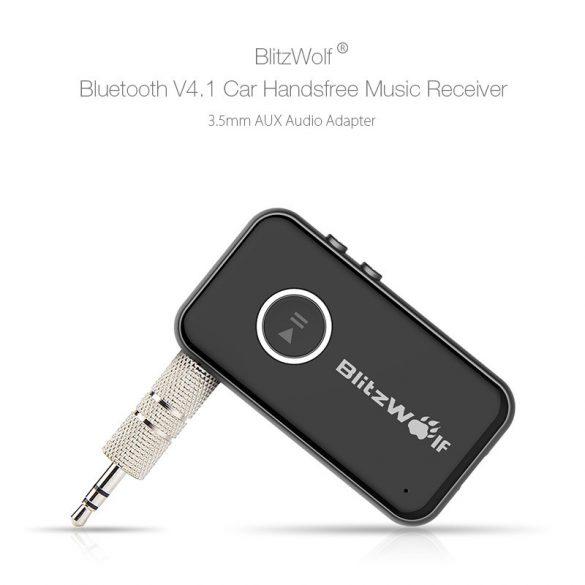 BlitzWolf® BW-BC1 - Caricabatterie USB per auto per accendisigari e trasmettitore FM
