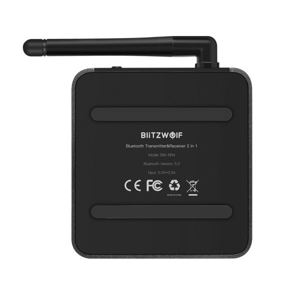 BlitzWolf® BW-BR4 bluetooth V5.0 HD Music Receiver Transmitter Audio adattatore 2 in 1