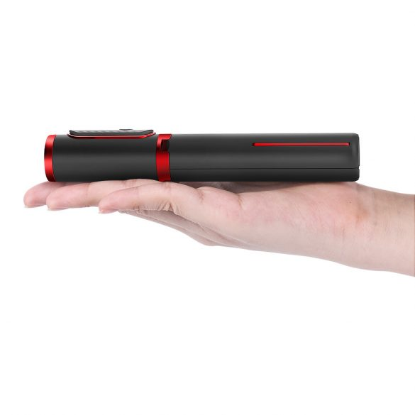BlitzWolf® BW-BS10 All in One portatile bluetooth Selfie Stick Morsetto per telefono nascosto con treppiede retrattile - Nero