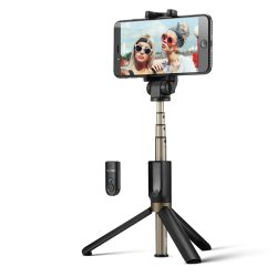 BlitzWolf BW-BS3 Versatile 3 in 1 bluetooth treppiede selfie stick per iPhone 8 8 Plus iPhone X - Nero