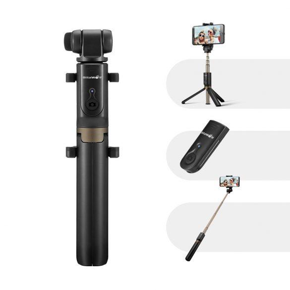 BlitzWolf BW-BS3 Versatile 3 in 1 bluetooth treppiede selfie stick per iPhone 8 8 Plus iPhone X - Nero