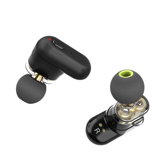 [Dual Dynamic Driver] Blitzwolf® BW-FYE7 TWS bluetooth 5.0 Auricolare Bassi pesanti Stereo chiamate bilaterali Cuffie con scatola di ricarica - Nero