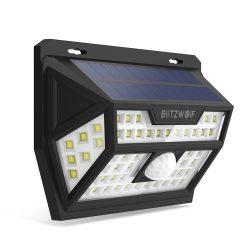Lampada solare da esterno - BlitzWolf BW-OLT1 con rilevatore di movimento, resistente all'acqua IP64