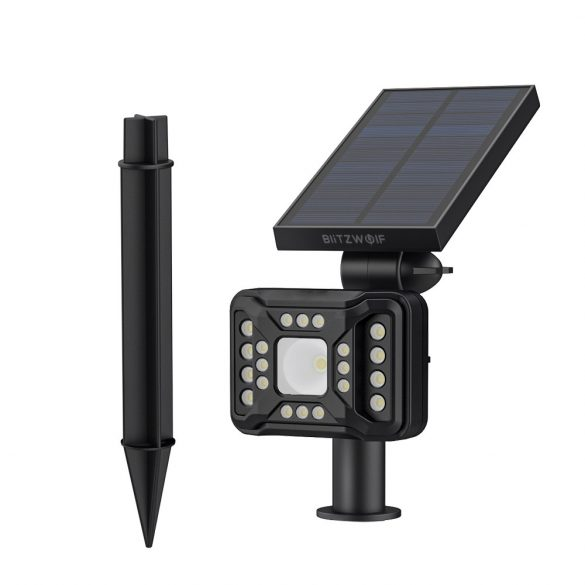 Lampada solare da esterno - BlitzWolf BW-OLT2 con rilevatore di movimento, resistente all'acqua IP44