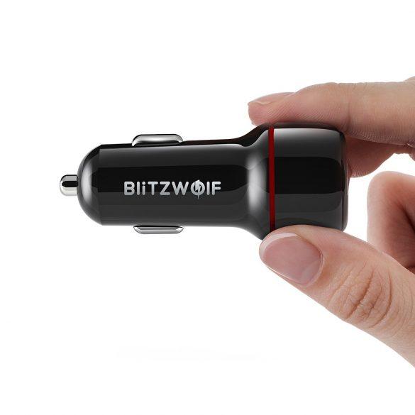Caricabatterie per auto BlitzWolf® BW-SD5 25W 2xQ3.0 con tecnologia di ricarica rapida, illuminazione a LED