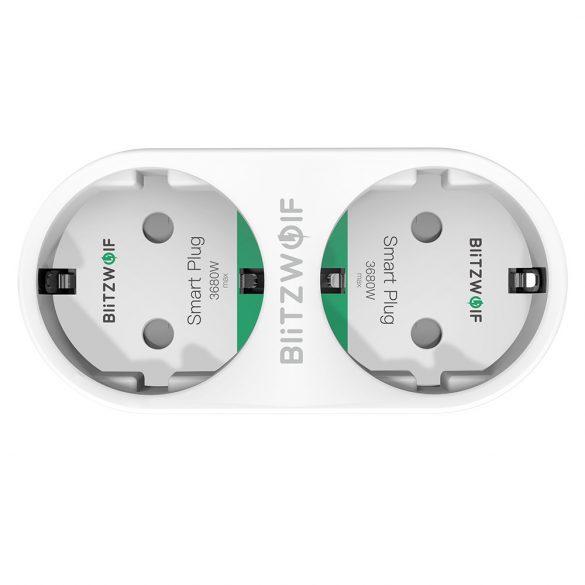 Blitzwolf® BW-SHP7 Presa Intelligente WiFi, Presa WiFi Amazon Smart Plug EU Socket, Prese Intelligente Multipla compatibile con Smartphone iOS Android App Presa Wireless, Port USB