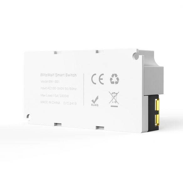 BlitzWolf® BW-SS1 WiFi Smart Switch Controller 15A / 3300W Carico massimo, con controllo app, timer, controllo vocale.