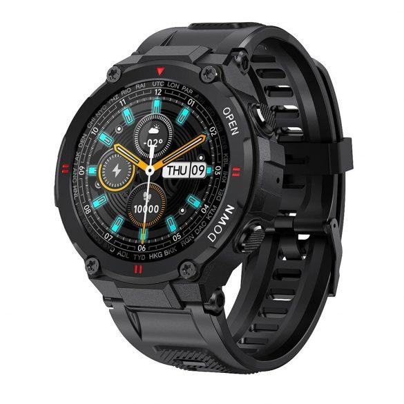 Blitzwolf® BW-AT2C (Nero) Smartwatch con microfono e altoparlante integrati con innumerevoli funzioni della modalità attività