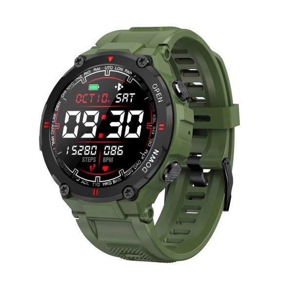 Blitzwolf® BW-AT2C (Verde) Smartwatch con microfono e altoparlante integrati con innumerevoli funzioni della modalità attività