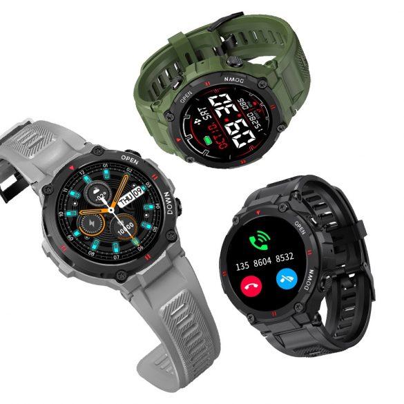 Blitzwolf® BW-AT2C (grigio) Smartwatch con microfono e altoparlante integrati con innumerevoli funzioni della modalità attività