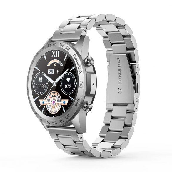 Smartwatch bluetooth Blitzwolf® BW-HL4 (nero) - cinturino in metallo, IP67, promemoria chiamate e messaggi, riproduzione musicale, modalità Muti-sport, dati sulla salute