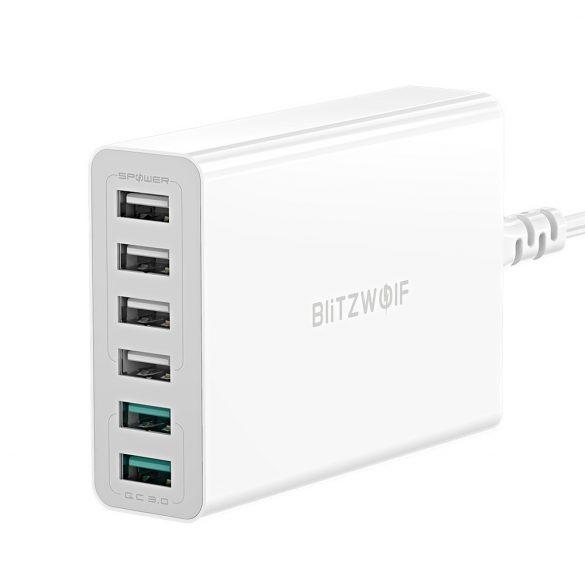 BlitzWolf® BW-S15 QC3.0, caricatore USB da tavolo a 6 porte Smart da 60 W intelligente