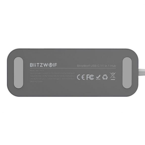 Blitzwolf BW-TH11 Hub 11 in uno: 2x porte HDMI, 100 W, USB 3.0, lettore di schede SD, VGA, Jack, porta LAN