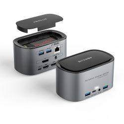 Blitzwolf BW-TH12 Hub 14 in uno: SATA3.0, 4K HDMI, 4x USB 3.0 port, 3.5 Jack, port LAN