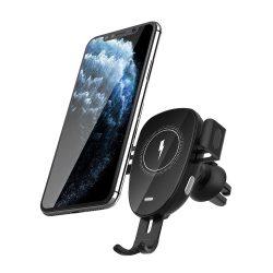 BlitzWolf® BW-CW2 - Caricabatterie rapido wireless da 15 W + supporto per telefono per auto - per tutti i telefoni che supportano la ricarica wireless (standard QI)