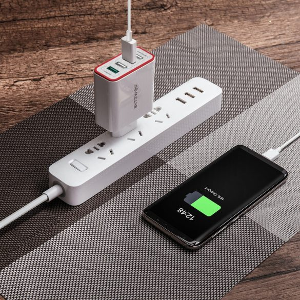 BlitzWolf® BW-PL5 35W QC3.0 Adattatore UE per caricabatterie USB a 4 porte con tecnologia Power3S per tablet smartphone - bianco