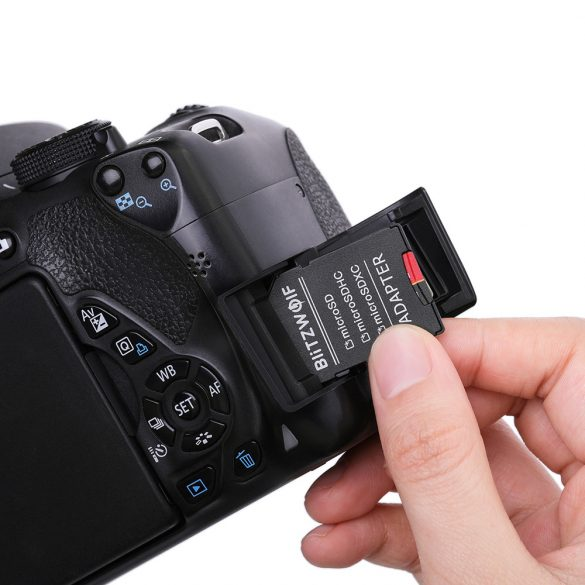 Scheda di memoria con adattatore   Scheda di memoria con adattatore BlitzWolf®BW-TF1 Scheda di memoria da 128 GB con adattatore, fino a 80 MB / s Velocità di lettura + 20 MB / s Velocità di scrittura