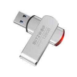 BlitzWolf® BW-UP1 Coperchio rotante a 360 ° in lega di alluminio Flash Drive USB 3.0 da 128 GB