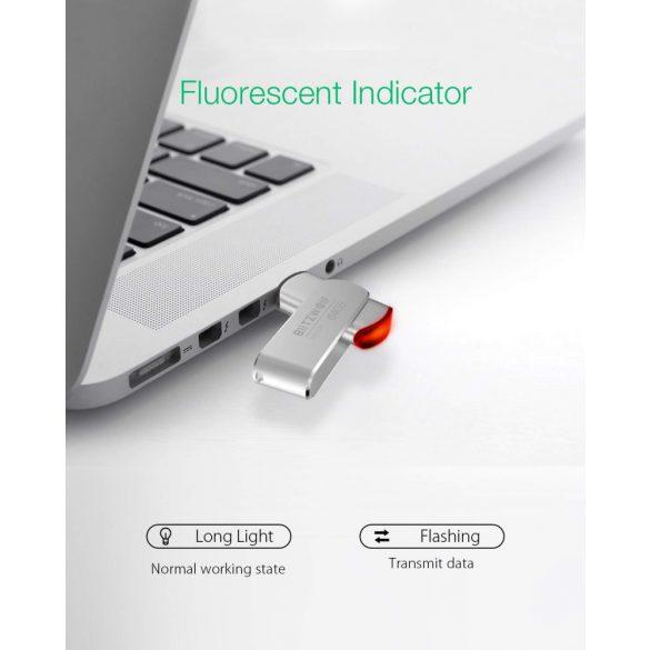 BlitzWolf® BW-UP1 Coperchio rotante a 360 ° in lega di alluminio Flash Drive USB 3.0 da 64 GB