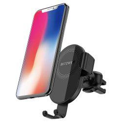 BlitzWolf® BW-CW1 Supporto per telefono senza fili per caricabatterie per auto