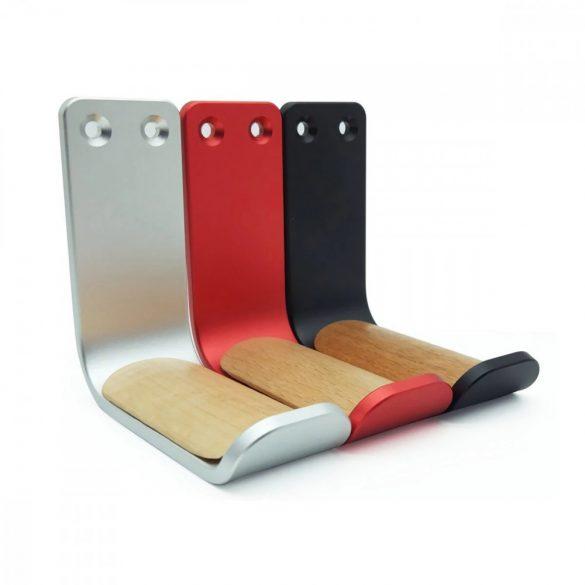 Supporto per cuffie, da parete - alluminio - nero, rosso
