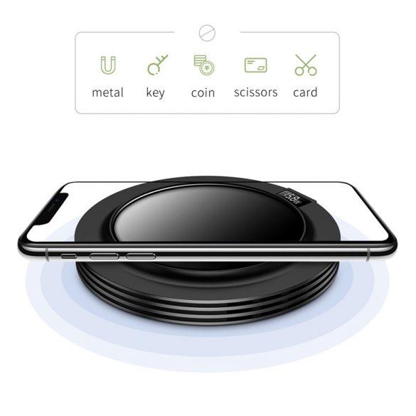 JOYROOM JR-A16 + caricabatterie rapido CA - piastra in vetro, display, caricabatterie rapido wireless da 18 W per tutti i telefoni conformi a QI - bianco