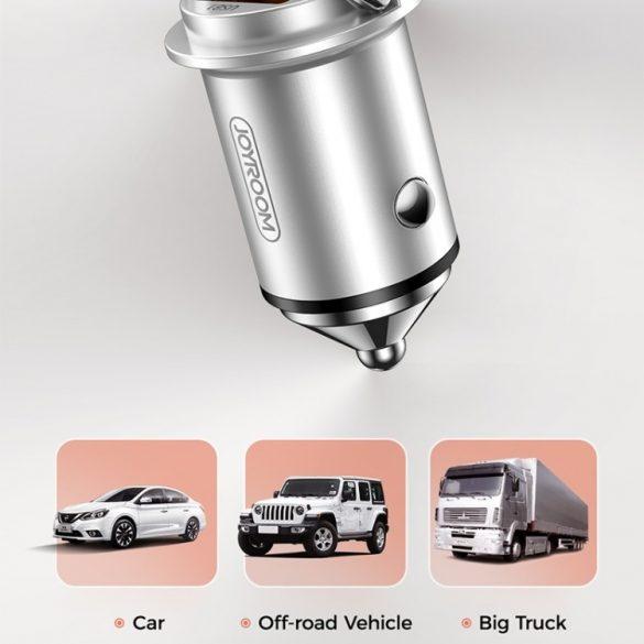 Caricabatteria da auto JOYROOM JR-C10 45W; Corpo in alluminio, caricatore rapido 2xQ3.0 e porta