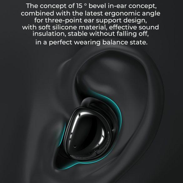 JOYROOM JR T10 nero - Scatola di ricarica Auricolari Hi-Fi Bluetooth TWS, chip Airoha, alloggiamento in alluminio, grande capacità della batteria